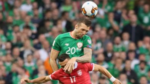 Shane Duffy Filip Kostic Republic of Ireland Serbia 05092017