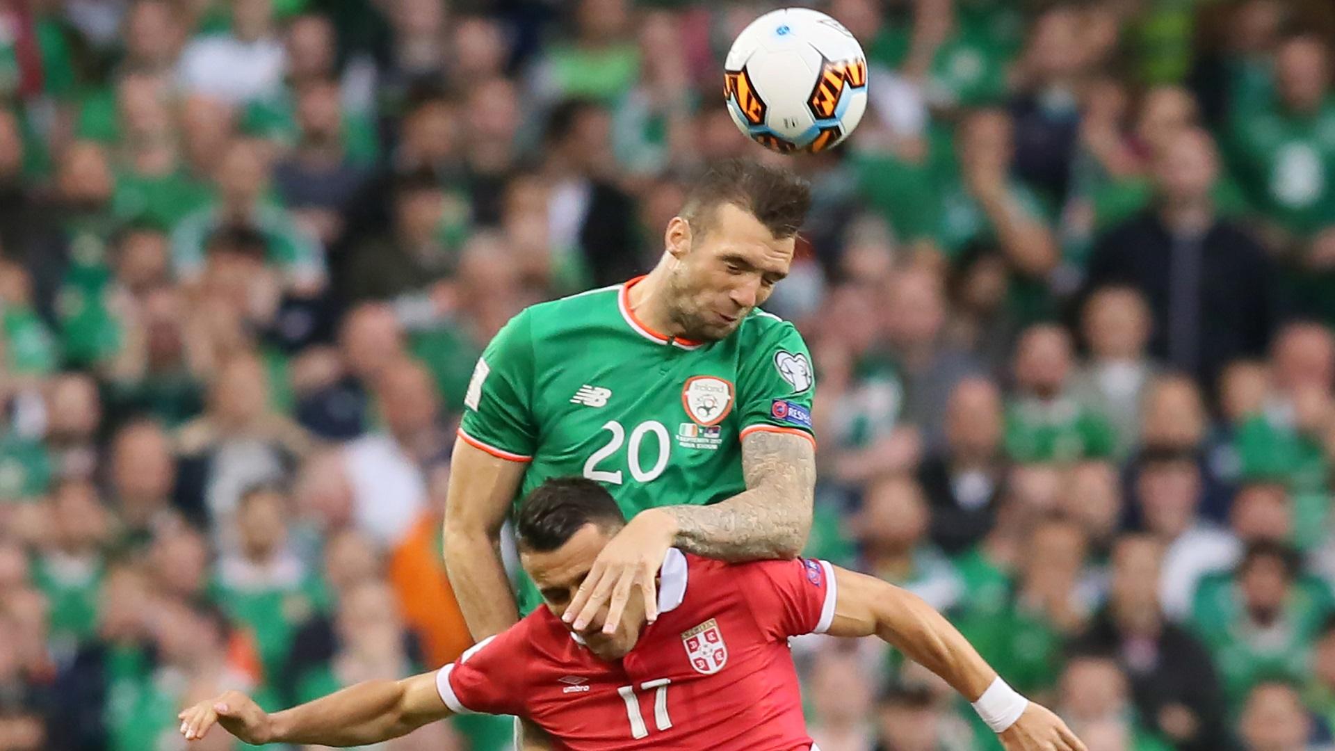 Shane Duffy Filip Kostic Republic of Ireland Serbia 05092017
