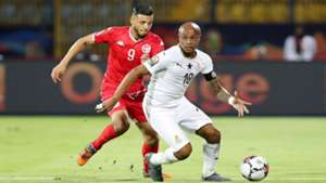 Andre Ayew of Ghana, Anice Badri of Tunisia, 2019 Afcon