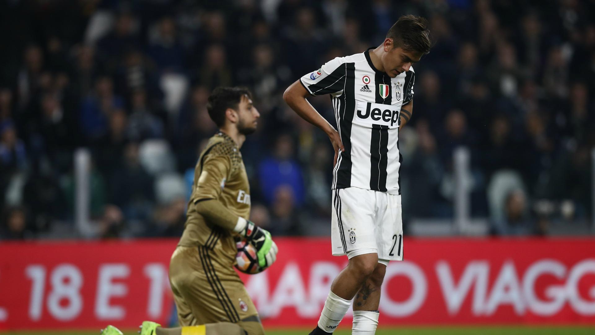 Gianluigi Donnarumma Paulo Dybala Juventus Milan Serie A