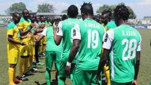 Mathare United provide guard of honour for Gor Mahia.
