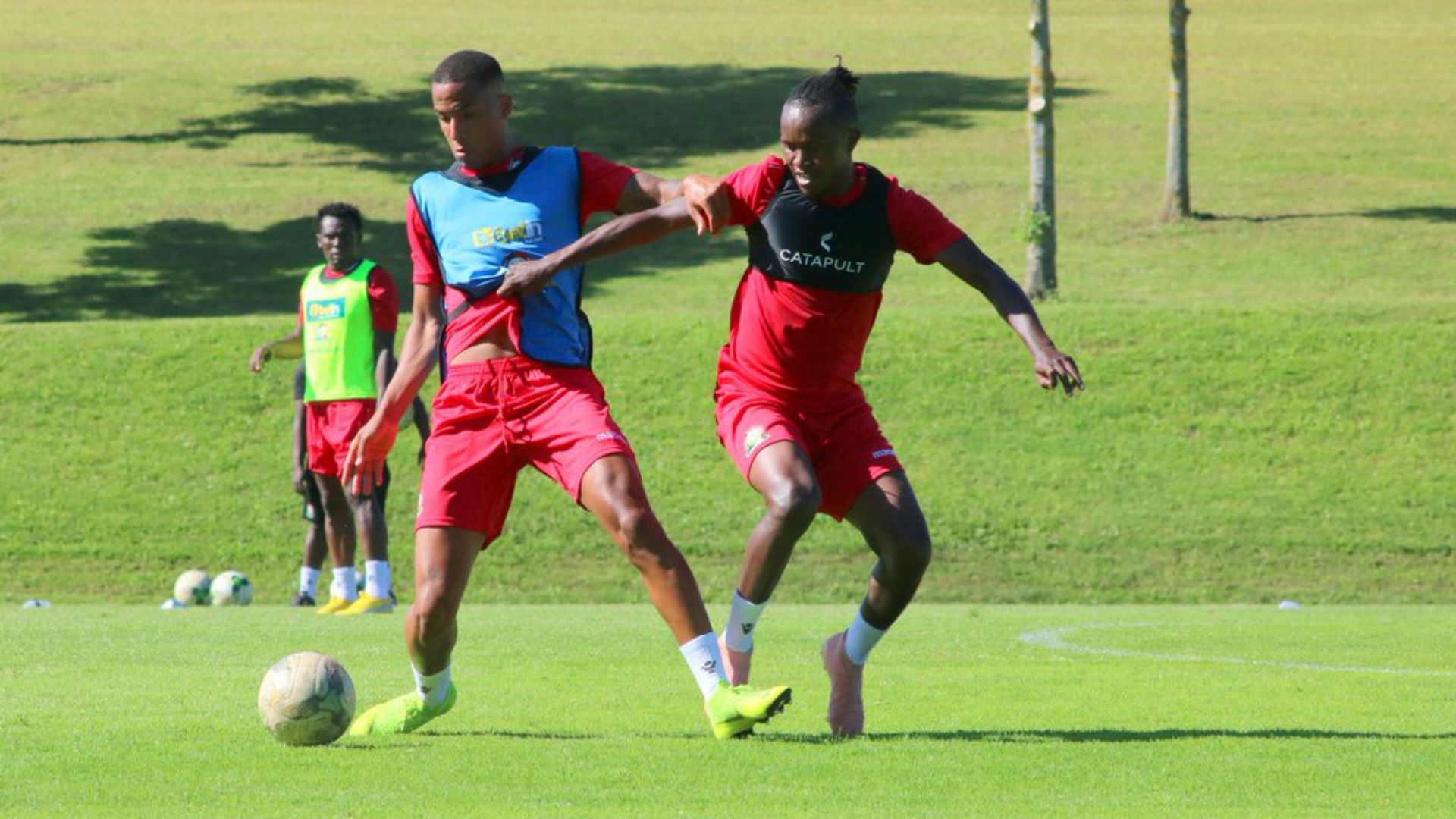 Harambee Stars players in France training.
