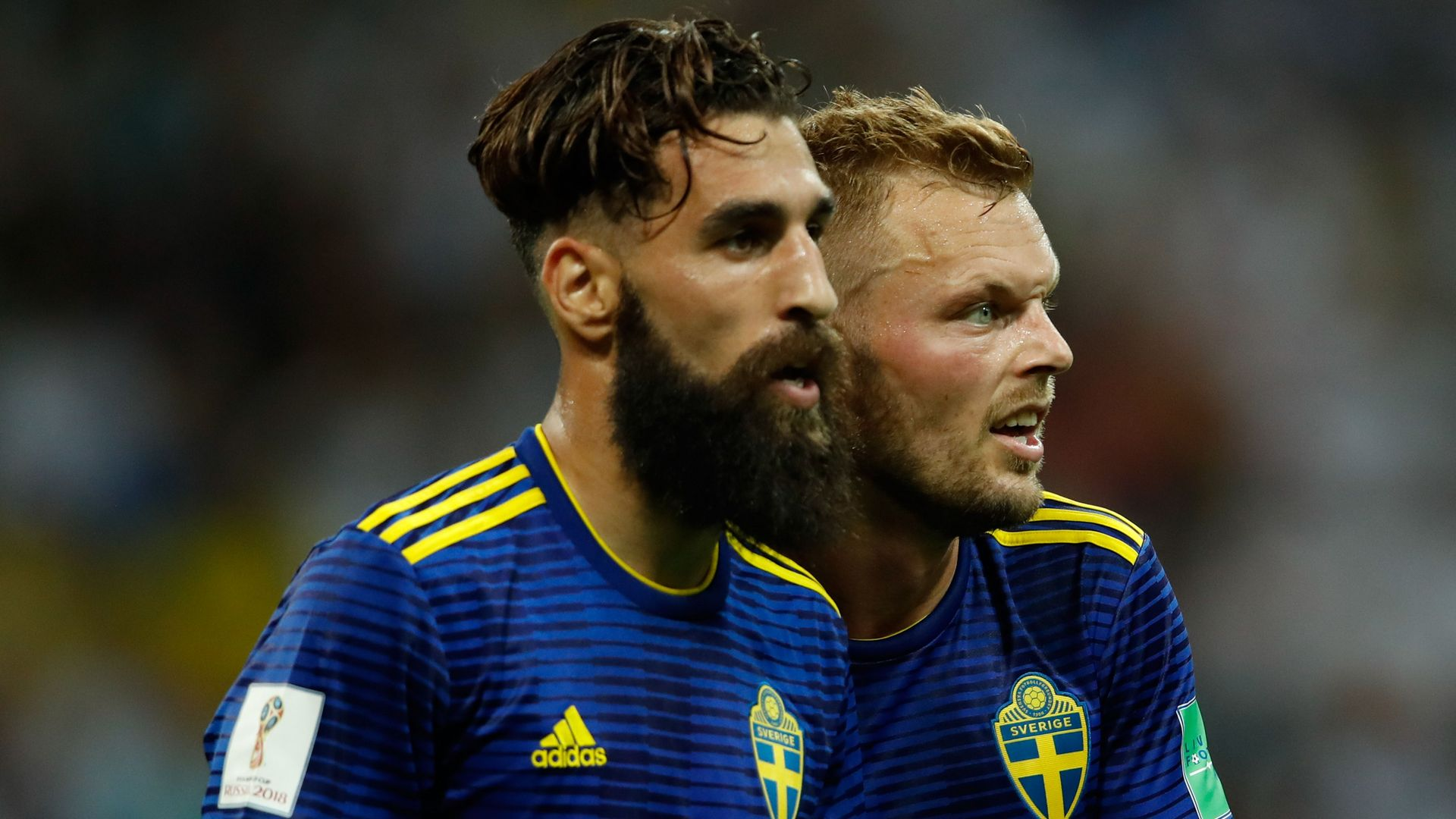 Sweden's Jimmy Durmaz defended by team-mates after racial abuse