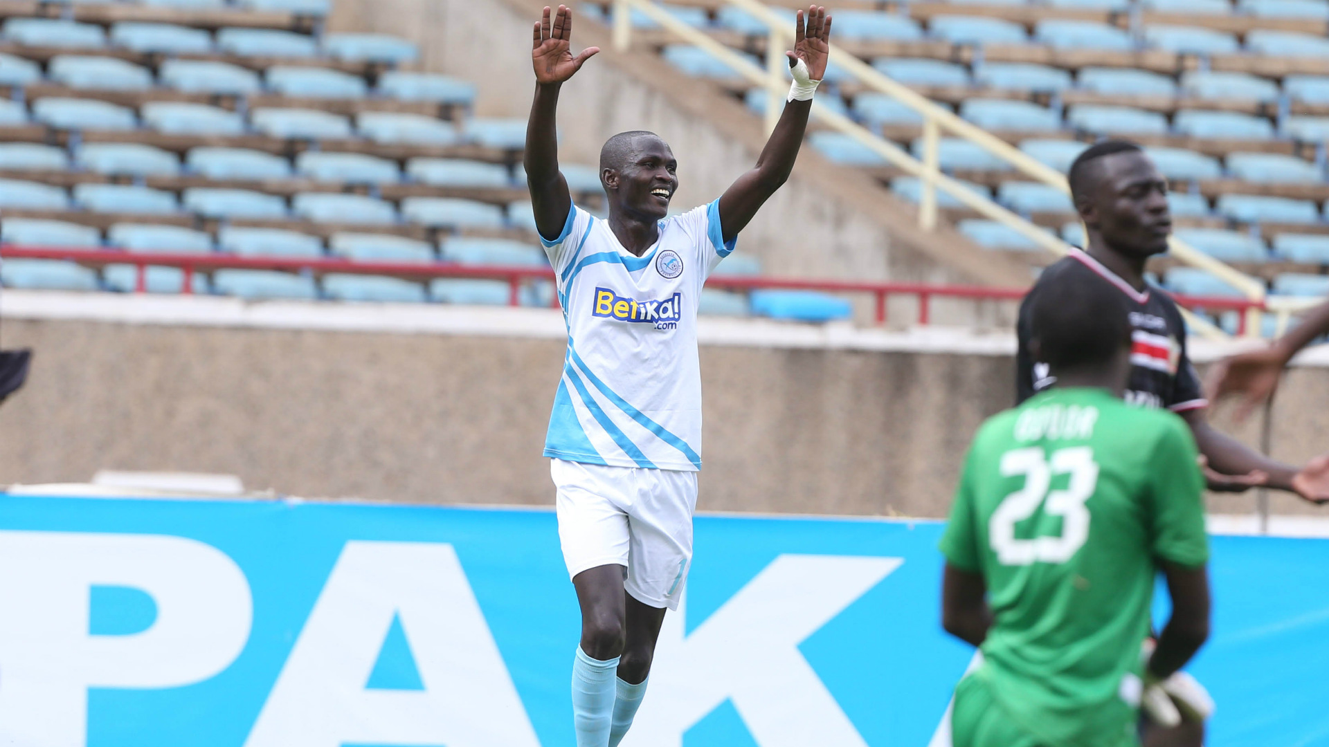 Umar Lasumba of Sofapaka celebrates.j