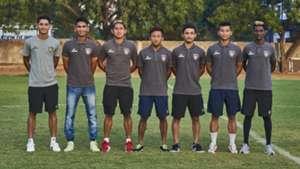 Saurabh Meher, Ajin Tom, Mohammed Sarif, Joysana Singh, Aman Chetri, Aimol Chongompipa Reamsochung Hendry Chennaiyin FC 'B' team