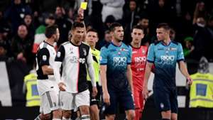 Juventus Atalanta 2019 ronaldo yellow card