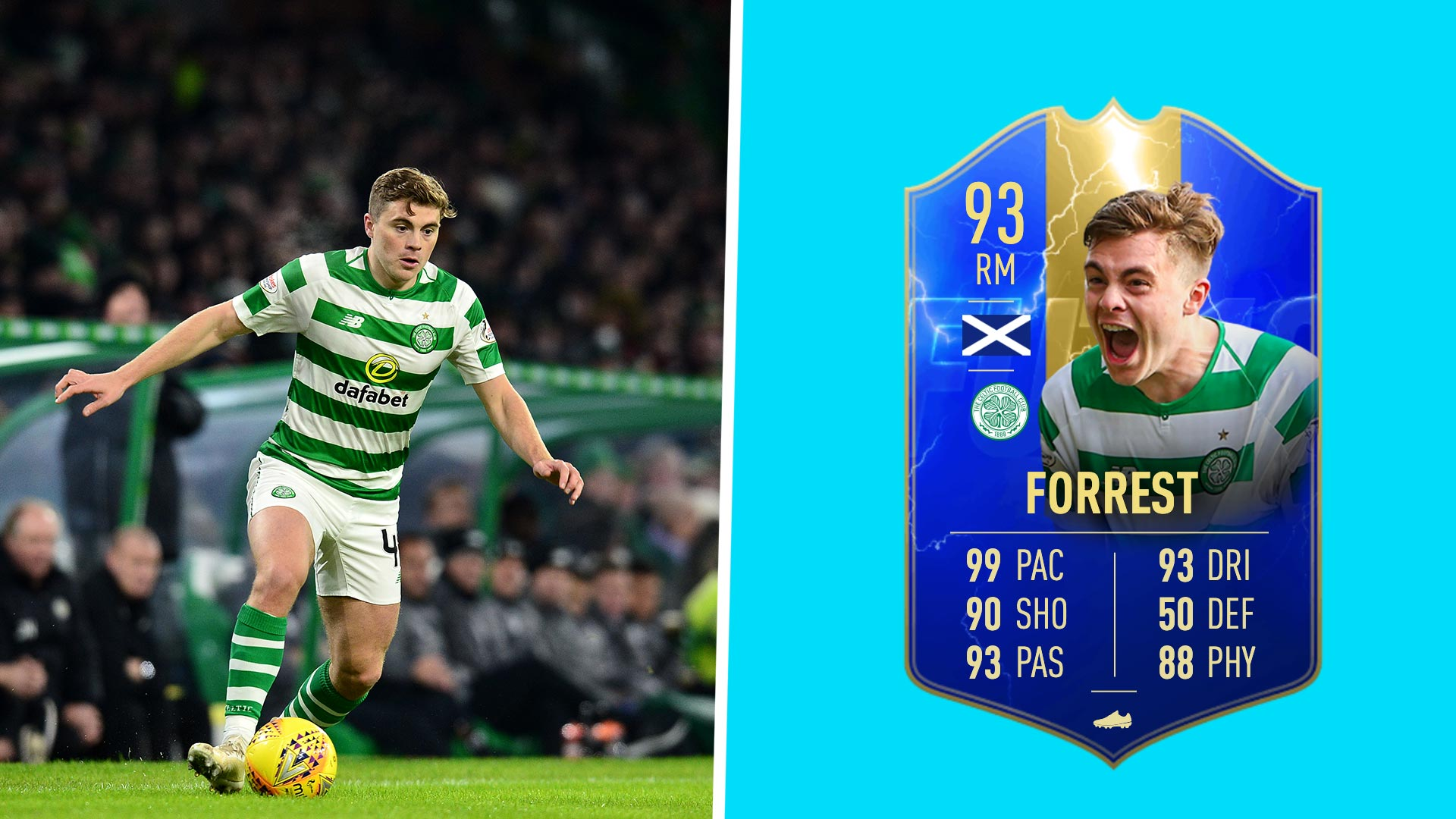208da5d5c0dad Celtic's James Forrest criminally misses out on FIFA 19 TOTY card ...