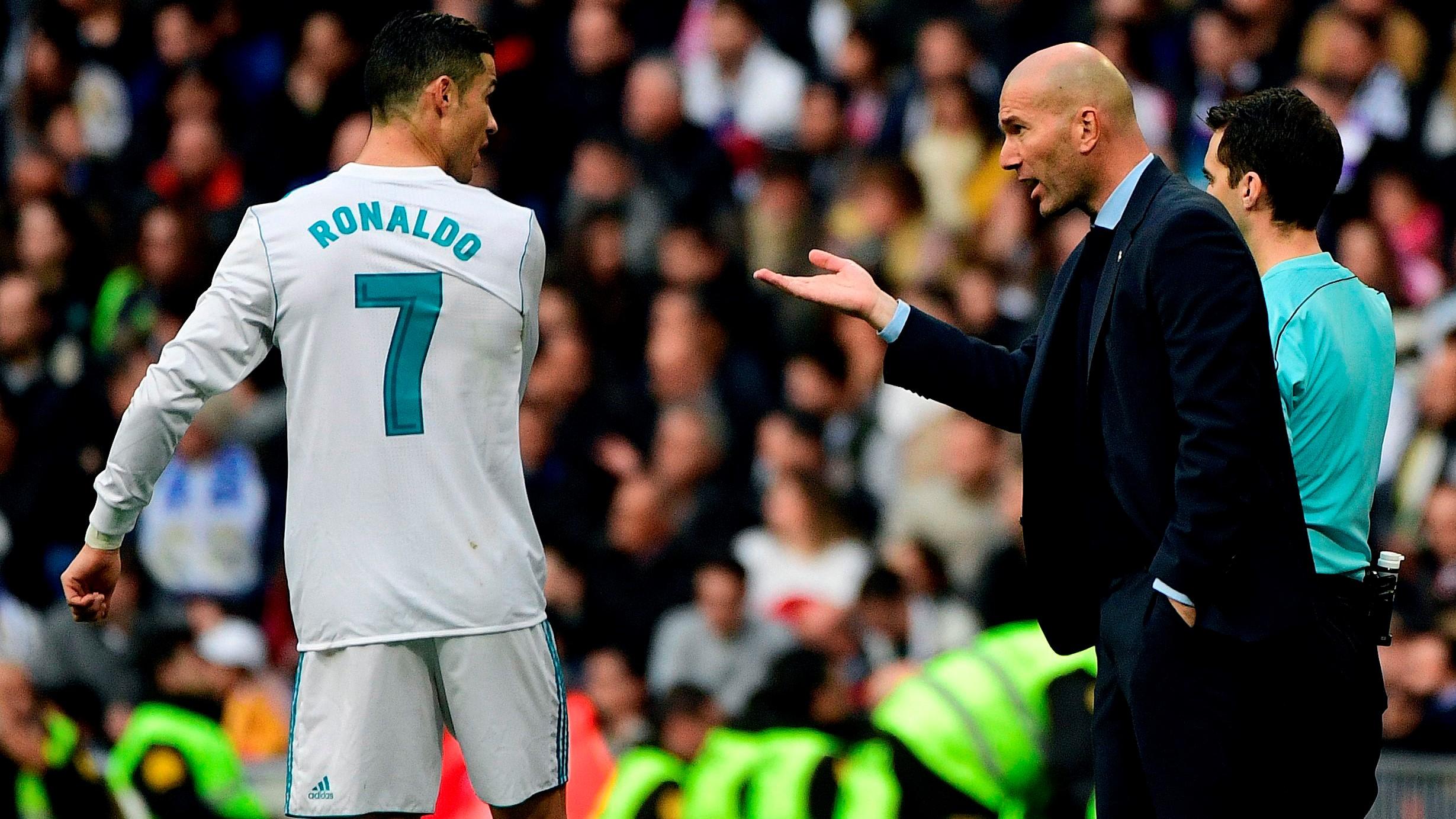 Cristiano Ronaldo Zinedine Zidane Real Madrid Sevilla LaLiga 09122017