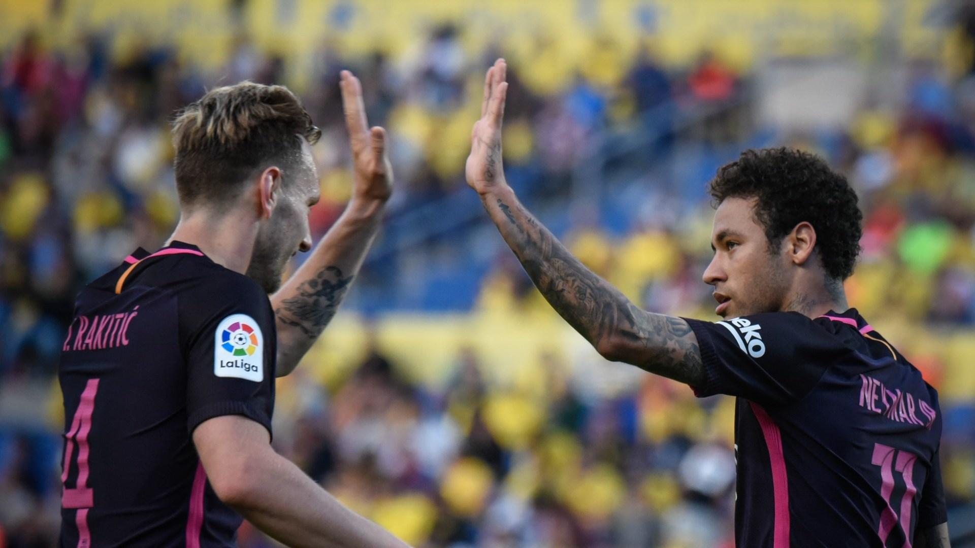 Ivan Rakitic Neymar Las Palmas Barcelona LaLiga 14052017