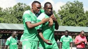Jacques Tuyisenge and Meddie Kagere of Gor Mahia v Wazito FC.