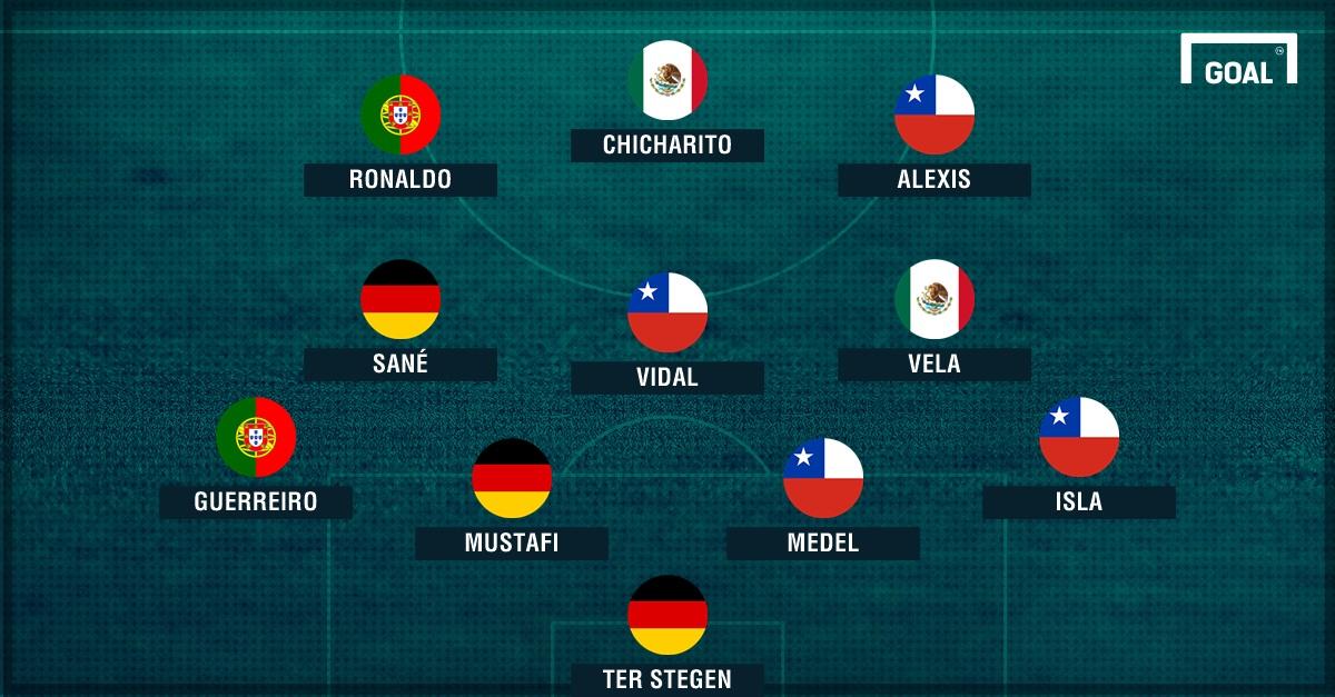 PS XI ideal Copa Confederaciones