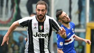 Gonzalo Higuain Bruno Fernandes Sampdoria Juventus Serie A
