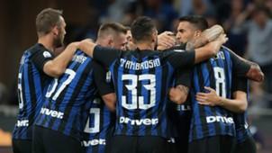Inter celebrating Torino Serie A