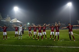 Guangzhou Evergrande celebrate after beating Eastern SC in AFC CL 2017