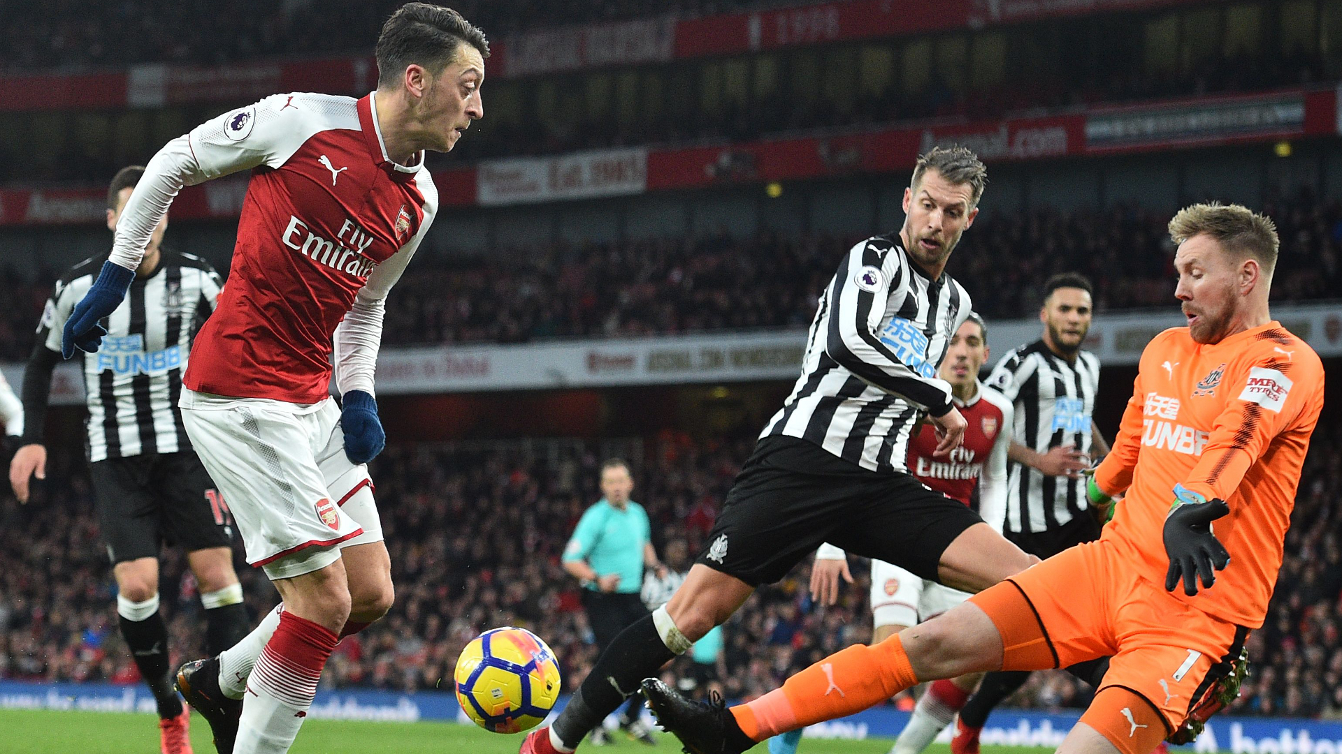 Image result for ozil newcastle goal