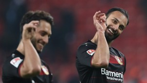 Hakan Calhanoglu Omer Toprak Bayer Leverkusen 22012017