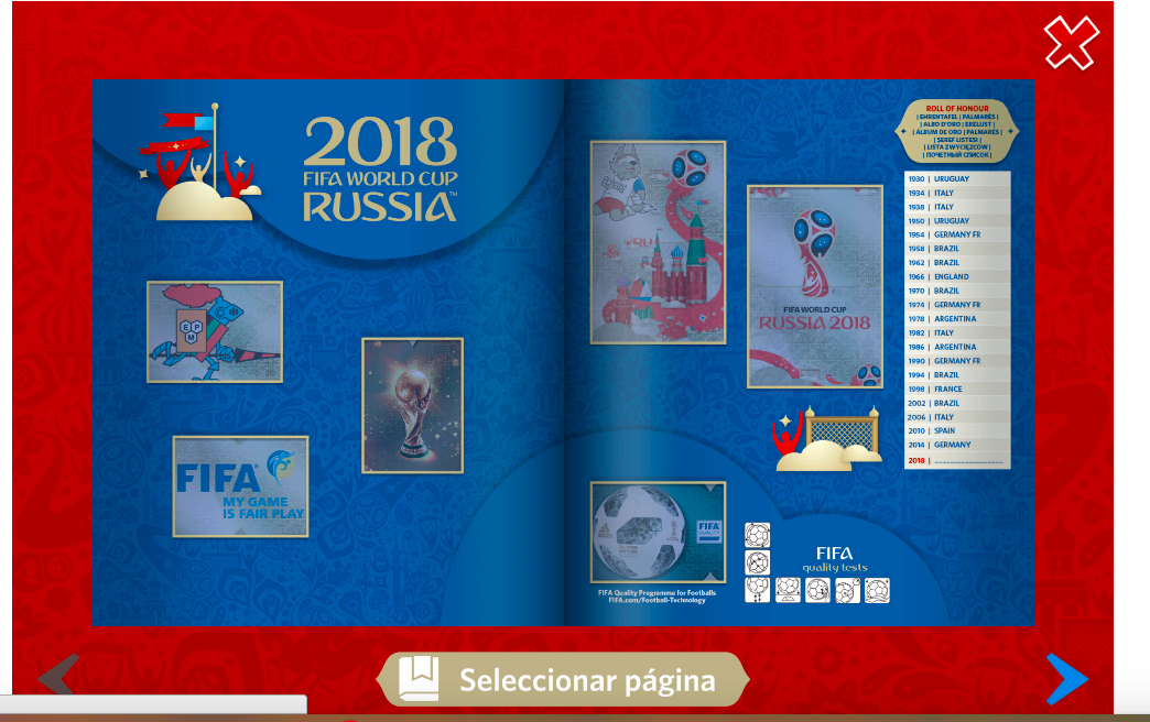 Qu es el album virtual panini del mundial rusia 2018 for Paginas de espectaculos argentina