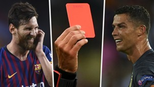 GFX Messi Ronaldo Red card split
