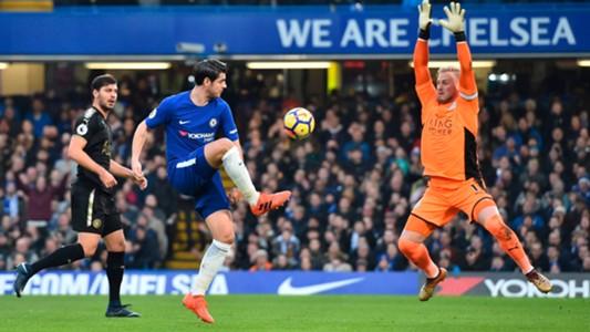 Alvaro Morata Chelsea Leicester