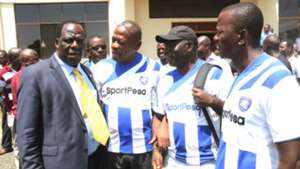 Wycliffe Oparanya of Kakamega and AFC Leopards Sacco members.