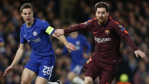 Cesar Azpilicueta, Lionel Messi, Chelsea vs Barcelona