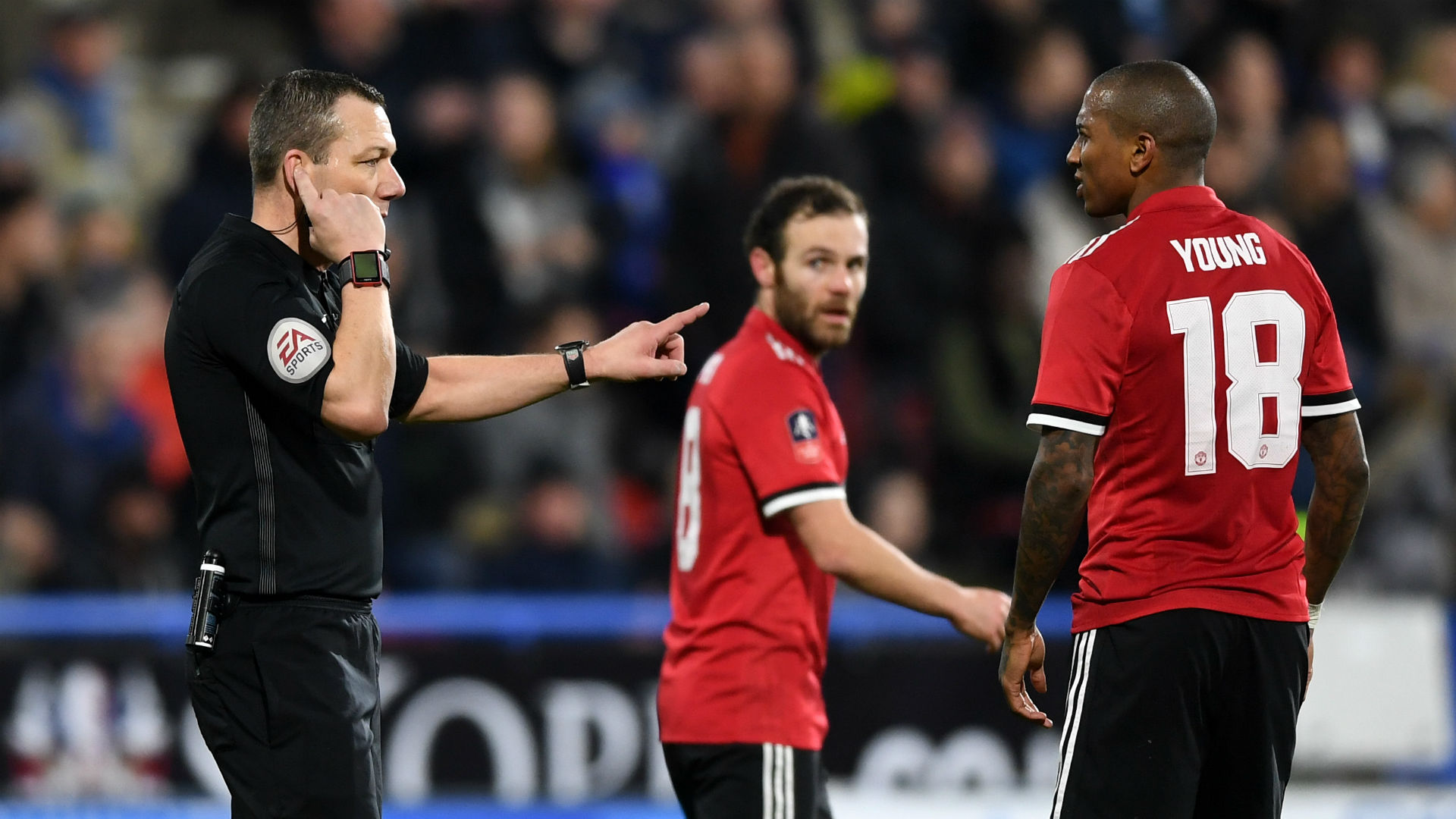 Kevin Friend VAR Juan Mata Ashley Young Manchester United FA Cup