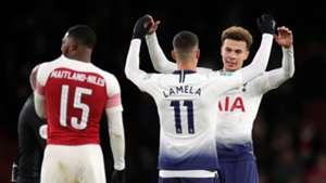 Ainsley Maitland-Niles, Erik Lamela, Dele Alli, Arsenal vs Tottenham