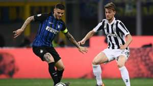 Mauro Icardi Daniele Rugani Inter Juventus Serie A 04282018