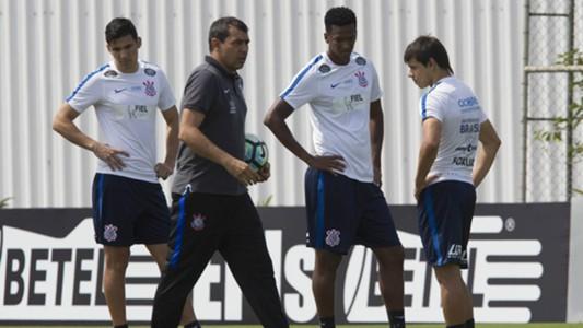 Balbuena, Jô, Romero, Fábio Carille - Corinthians - 9/09/2017