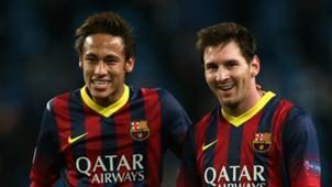Neymar Lionel Messi FC Barcelona 14022014