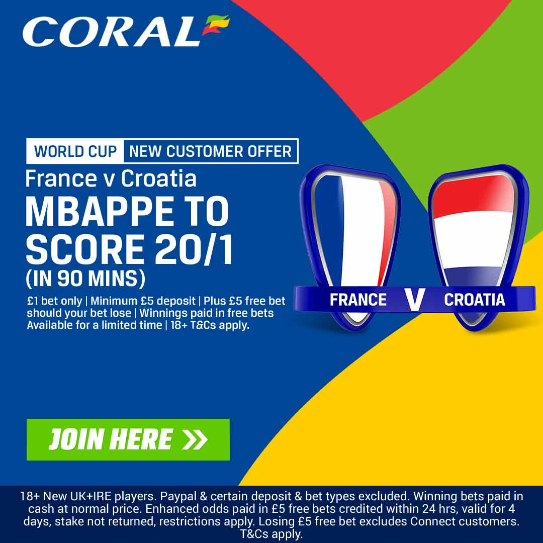 Mbappe Coral World Cup final offer in article