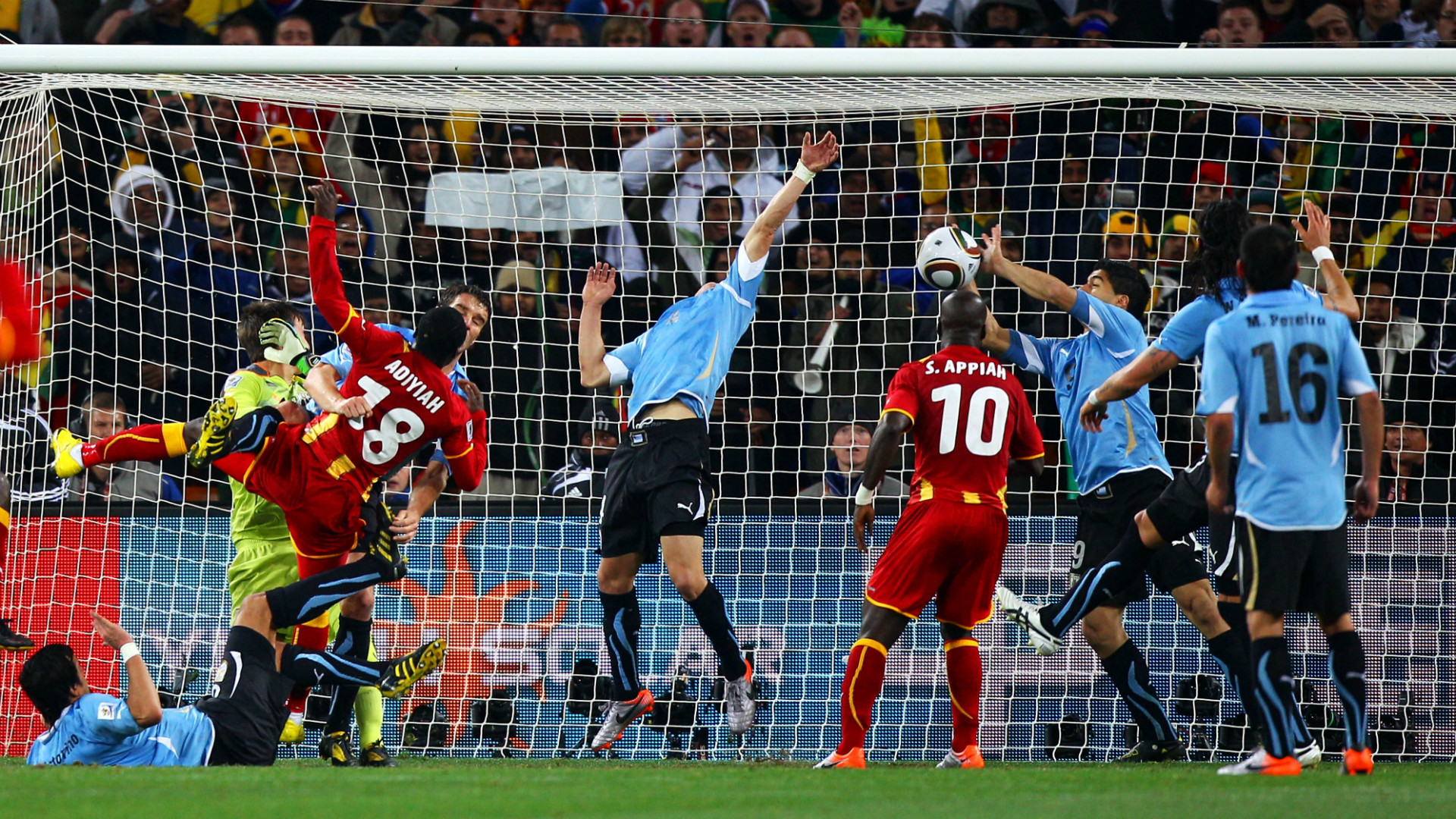 Luis Suarez Uruguay Ghana 2010 WOrld Cup