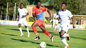 Ayub Timbe of Harambee Stars v DR Congo.