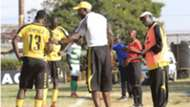 Tusker coach Sam Timbe and assistant Francis Baraza.