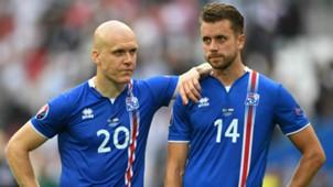 Emil Halfredsson Kari Arnason Iceland Euro 2016