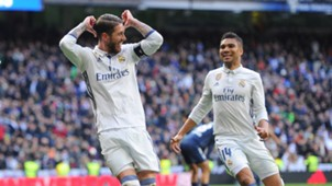 Casemiro Sergio Ramos Real Madrid Malaga La Liga 21012017