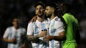 Lionel Messi Sergio Aguero Argentina Haiti international friendly 2018