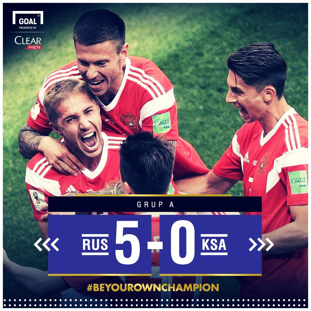 FT: Rusia 5-0 Saudi