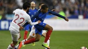 Kylian Mbappe Isco France Spain Friendly 28032017