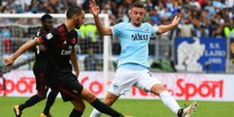 Leonardo Bonucci Sergej Milinkovic-Savic Lazio Milan Serie A