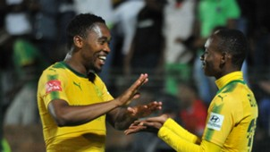 Sibusio Vilakazi and Khama Billiat of Sundowns