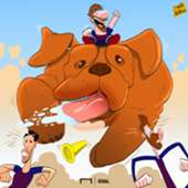 Messi & his dog cartoon