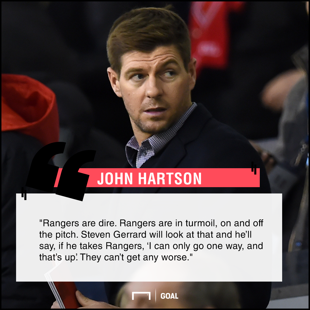 Steven Gerrard John Hartson Rangers dire