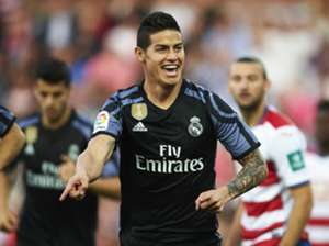 James Rodriguez Real Madrid Granada
