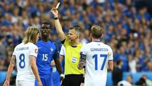 Pogba Bjarnason Kuipers France Iceland Euro 2016 QF 07032016