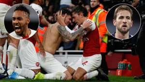 Arsenal Tottenham Aubameyang Kane GFX