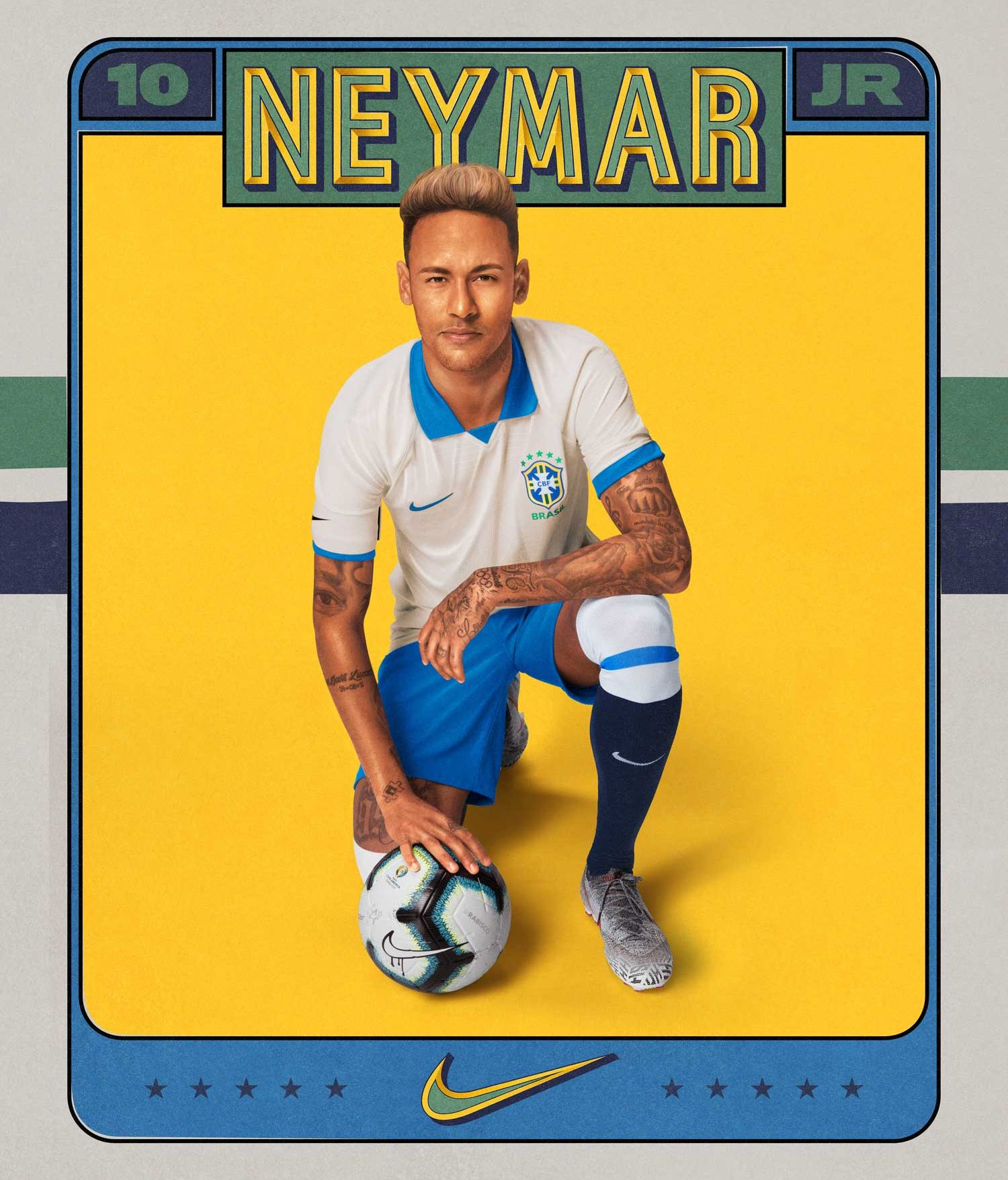 BODY ONLY Neymar Brasil novo uniforme 2019