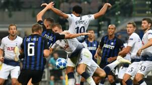 Stefan De Vrij Mousa Dembelè Inter Tottenham Champions League