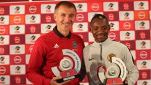 Orlando Pirates Milutin Sredojevic and Kaizer Chiefs Khama Billiat, May 2019