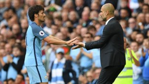 david silva pep guardiola manchester city premier league 081316